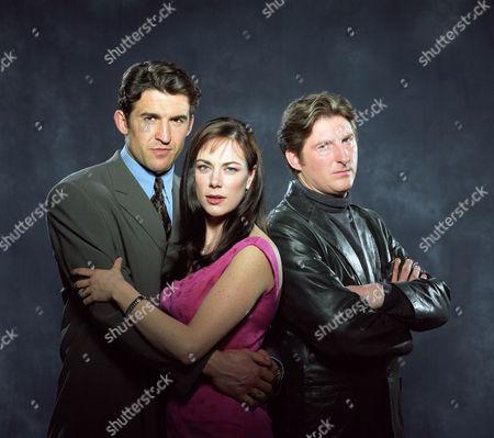 JONATHAN CAKE, SUSAN VIDLER AND ADRIAN DUNBAR IN 'THE JUMP' - 1998