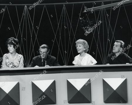 Stock Photo of MARLA LANDI, JOHN SKEAPING, FRANCIS DAY AND BILL OWEN IN 'TELL THE TRUTH' - 1960'S