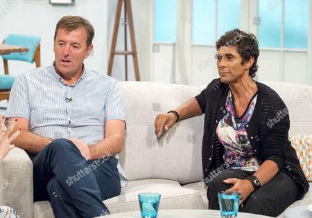 Matt Le Tissier and Fatima Whitbread
