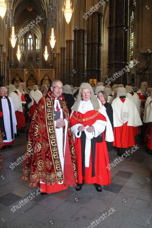 Editorial image of Service for members of the legal profession at Westminster Abbey, London, Britain - 01 Oct 2015