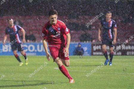 York City forward Reece Thompson during the Johnstone's Paint Trophy match between York City and Doncaster Rovers at Bootham Crescent, York