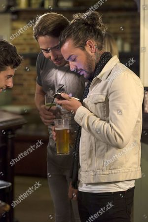 James Argent, James Lock and Peter Wicks enjoy a night out together when Peter receives an answerphone message from Jess Wright.
