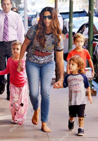 Camila Alves with children Levi Alves McConaughey, Vida Alves McConaughey and Livingston Alves McConaughey