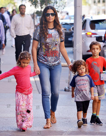 Camila Alves with children Levi Alves McConaughey, Vida Alves McConaughey and Livingston Alves McConaughey