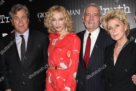 Tom Bernard (Co-Pres. Sony Pictures Classics), Cate Blanchett, Dan Rather and Mary Mapes (Author)