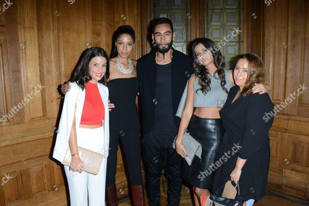 Ludivine Sagna, Emene Nyame, La Fouine, Malika Menard and guest