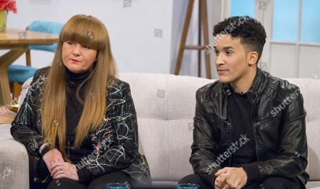 Jahmene Douglas and his mum Mandy Douglas