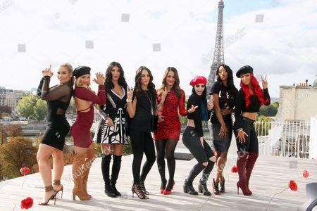 WWE Divas Natalie Neidhart a.k.a. 'Natalya', Amanda Saccomanno a.k.a. 'Mandy', Milena Roucka a.k.a. 'Rosa', Brie Bella, Nikki Bella, Britani Knight a.k.a. 'Paige', Victoria Crawford a.k.a. 'Alicia' and Natalie Nelson a.k.a. 'Eva'