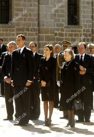 King Felipe VI, Queen Letizia and Princess Anne, Duchess of Calabria