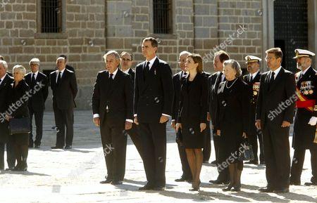 Stock Image of King Felipe VI, Queen Letizia and Princess Anne, Duchess of Calabria