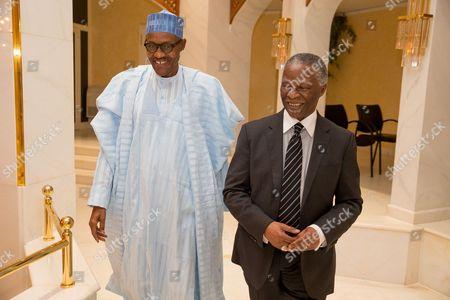 President Muhammadu Buhari and Thabo Mbeki