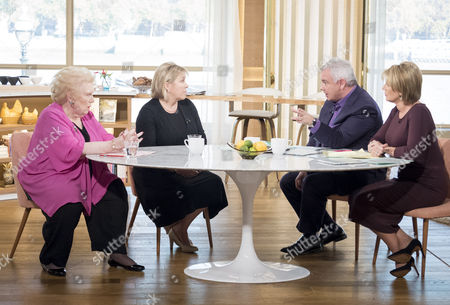 Denise Robertson and Joanna Nicholas with Eamonn Holmes and Ruth Langsford