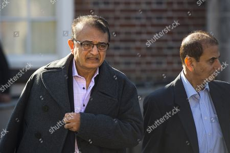 Anni Dewani's father Vinod Hindocha (left) leaving North London Coroner's Court