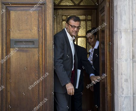 Anni Dewani's uncle Vinod Ashock Hindocha leaving North London Coroner's Court