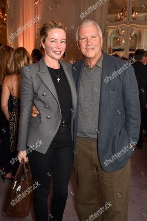 Larry Gagosian and Chrissie Erpf