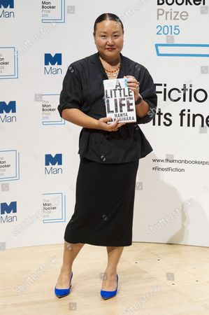 Hanya Yanagihara with her book 'A Little Life'