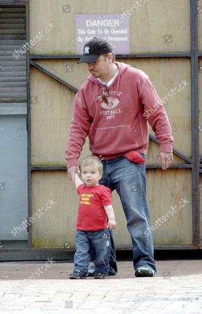 Lee Boardman and son Jack