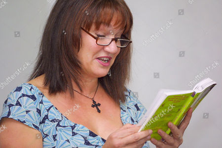 Louise Rennison at a book reading
