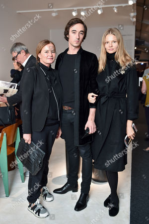 Stock Picture of Eva Cavalli, Daniele Cavalli and Magdalena Frackowiak