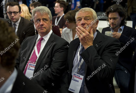Stock Image of Andrew Lansley MP and Lord Paddy Ashdown at the event.