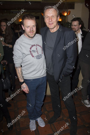Stock Picture of Paul Andrew Williams (Author/Director) and Anthony Head (Mr Baron)