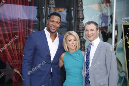 Kelly Ripa with Michael Strahan and Michael Gelman