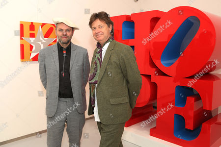 Editorial photo of Robert Indiana exhibition opening at The Contini Art UK Gallery, London, Britain - 12 Oct 2015