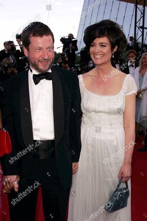 Lars Von Trier and wife Bente Froge