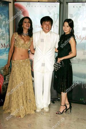 Mallika Sherawat, Jackie Chan and Kim Hee Seon