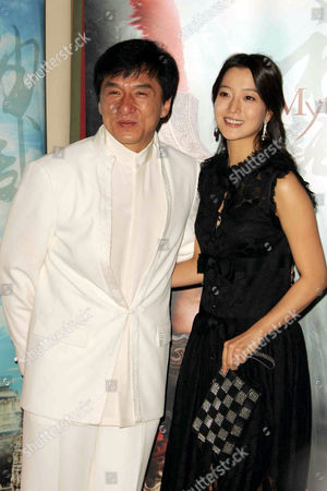 Jackie Chan and Kim Hee Seon