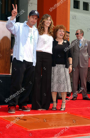 Adam Sandler with Jackie Titone and his mother Judy