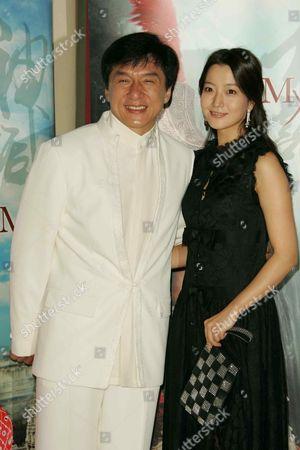 Jackie Chan and Kim Hee-Seon