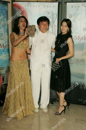 Mallika Sherawat, Jackie Chan and Kim Hee-Seon