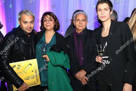Pablo Ganguli, Nadira Khannum Alvi Naipaul, Hanif Kureishi and Claudio Dragone
