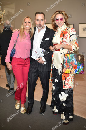 Hayley Sieff, David Furnish and Rebecca Korner