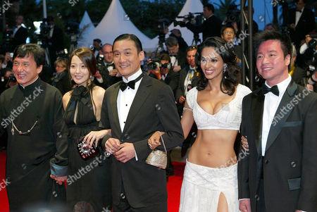 Stock Photo of Jackie Chan, Kim Hee Seon , Tony Leung Ka Fai, Mallika Sherawat and Stanley Tong
