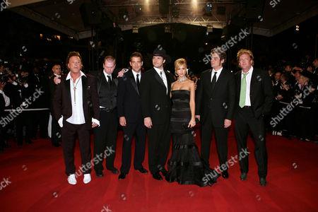 Mickey Rourke, Frank Miller, Clive Owen, Robert Rodriguez, Jessica Alba, Benicio de Toro and Michael Madsen