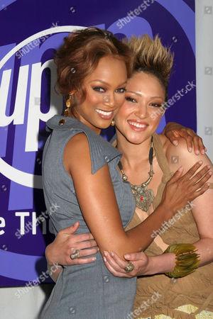 Tyra Banks and Naima Mora