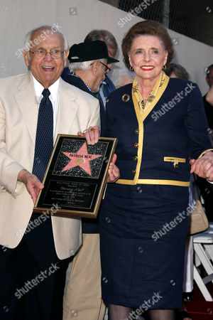 Honorary Mayor of Hollywood Johnny Grant and Patricia Neal