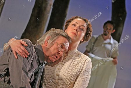 'The Home Place' at the Comedy Theatre - Tom Courtenay, Derbhle Crotty, and Hugh O'Conor - May 2005