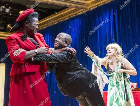 Sharon D Clarke as Lady Toof, Lucian Msamati as Toof, Michelle Bonnard as Maxine