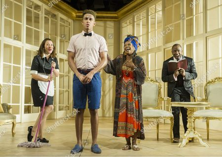 Michelle Bonnard as Dorita, Karl Queensborough as Gumper, Ayesha Antoine as Afreeka Organdy, Lucian Msamati as Toof
