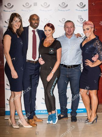 Kelly Sotherton, Nathan Doughlas, Amy Childs, guest, and Kelly Sephton