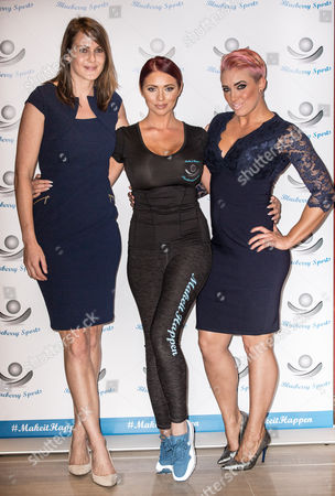 Stock Photo of Kelly Sotherton, Amy Childs and Kelly Sephton