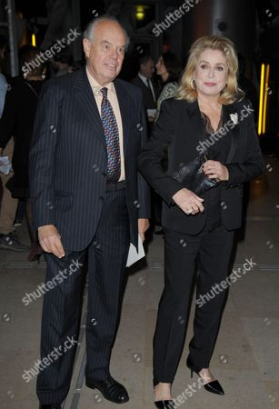 Stock Picture of Catherine Deneuve and Frederic Mitterand