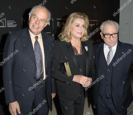 Frederic Mitterand, Catherine Deneuve with Martin Scorsese