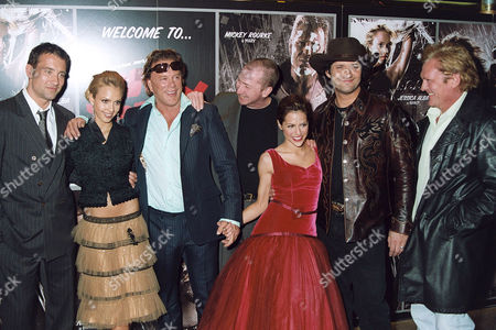 Clive Owen, Jessica Alba, Mickey Rourke, Frank Miller, Brittany Murphy, Robert Rodriguez and Michael Madsen