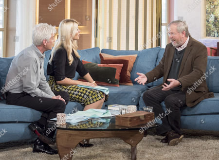 Phillip Schofield and Holly Willoughby with Bill Bryson