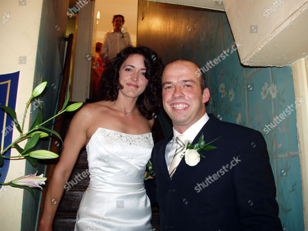 Margot Kidder's niece, Janet Kidder is pictured here a few minutes after she became Mrs Janet Whiffen.