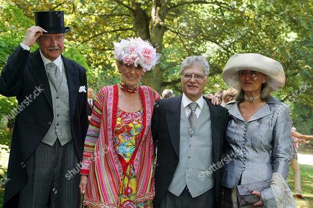Ferdinand von Bismarck with wife Elisabeth, Gabor Weiner and wife Brenda